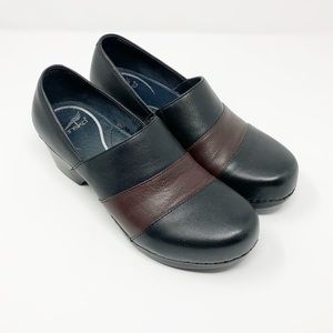Dansko | Black Leather Clogs